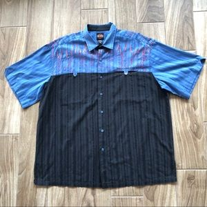 Harley Davidson Flame Embroidered Button Down 2XL